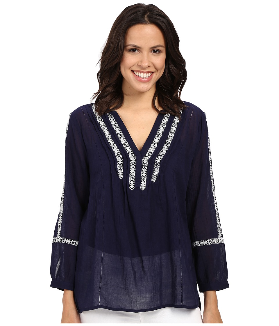 Paige - Tess Top (Evening Blue) Women's Clothing