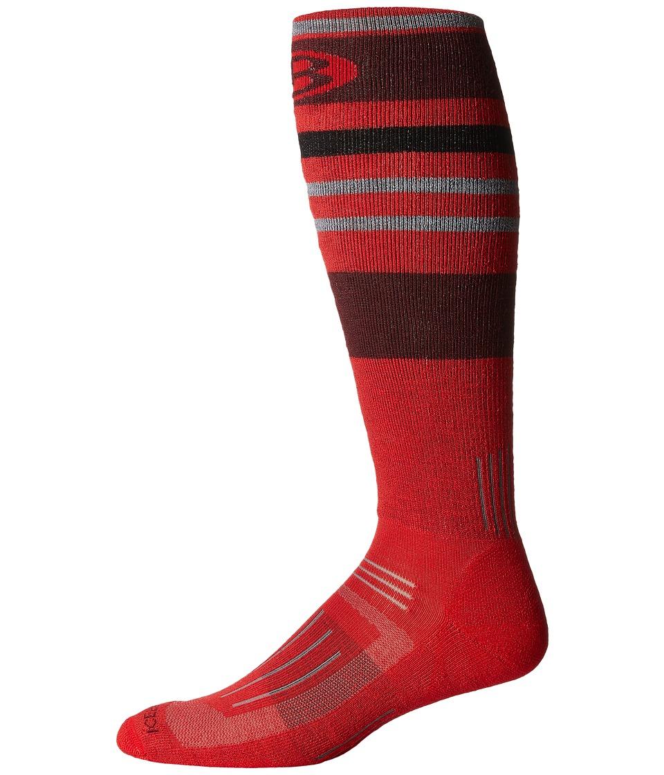 Icebreaker - Ski + Medium OTC 1-Pair Pack (Rocket) Men's Crew Cut Socks Shoes