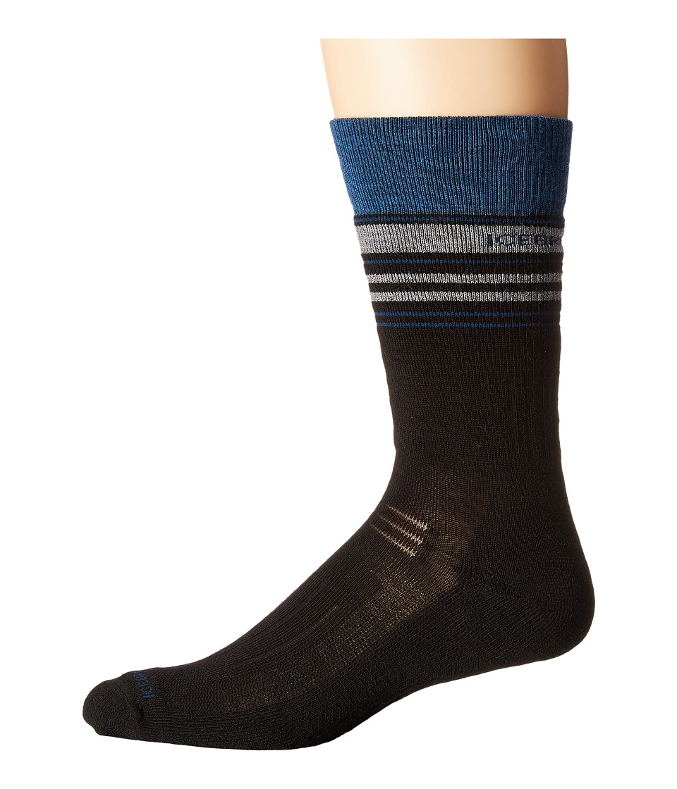 Icebreaker - Hike Medium Crew (Black/Equinox Heather/Twister Heather) Men's Crew Cut Socks Shoes