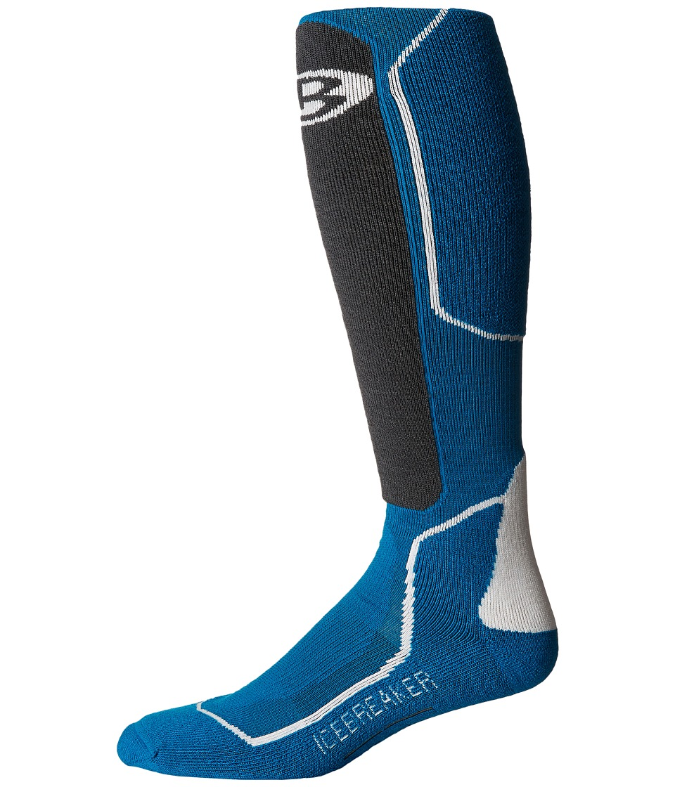 Icebreaker - Ski + Medium OTC 1-Pair Pack (Alpine/Monsoon/Snow) Men's Crew Cut Socks Shoes