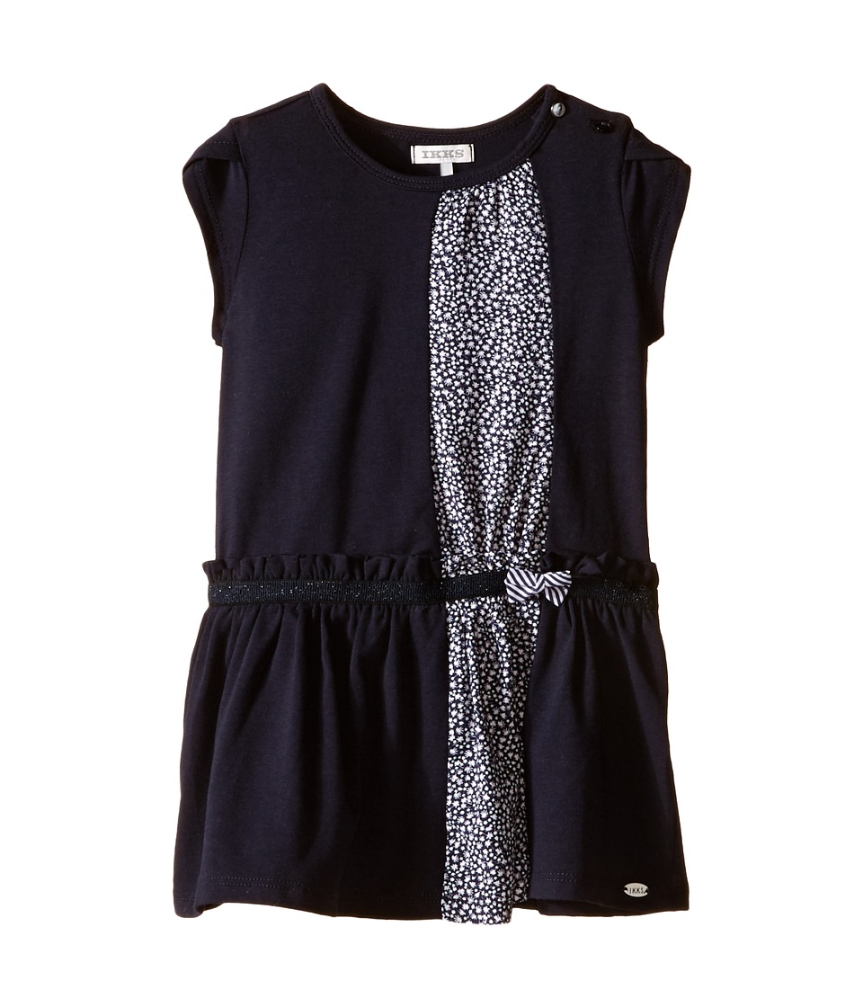 IKKS - Jersey Dress with Liberty Print (Infant/Toddler) (Navy) Girl's Dress