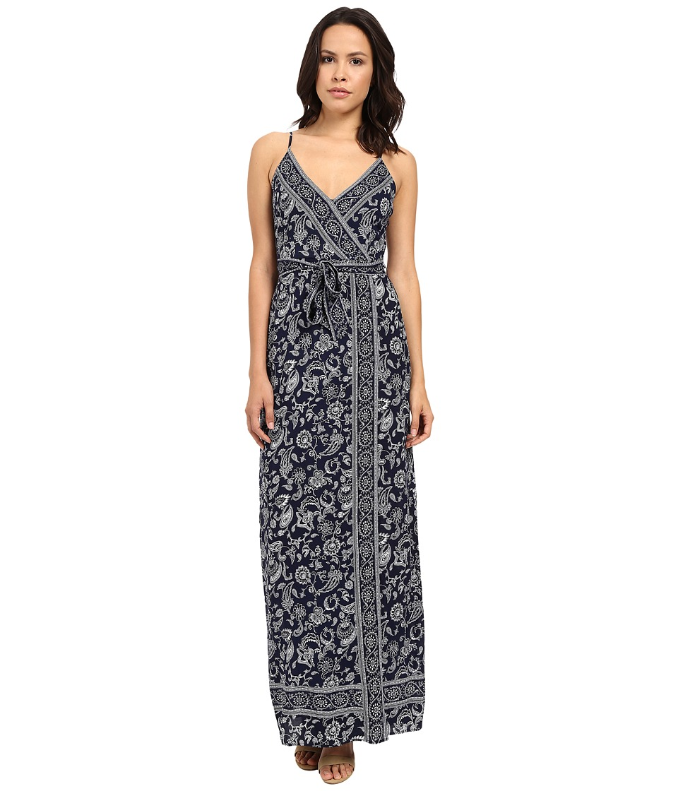 Paige - Regina Maxi Dress (Evening Blue/White) Women's Dress