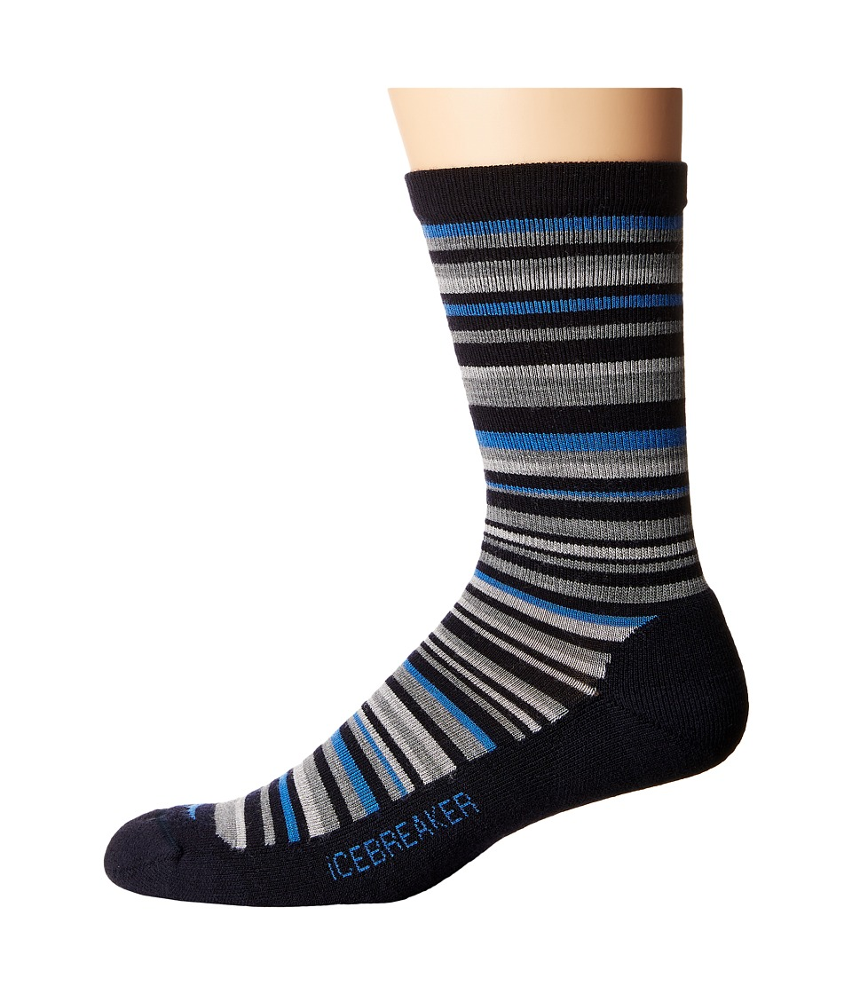 Icebreaker - Lifestyle Light Crew 1-Pair Pack (Admiral/Pelorus/Metro Heather) Men's Crew Cut Socks Shoes