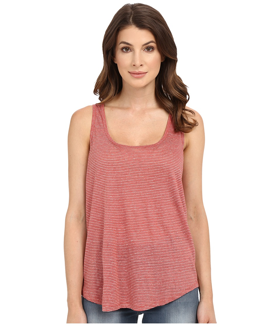 Paige - Jessa Tank Top (Dusty Cedar/White Stripe) Women's Sleeveless