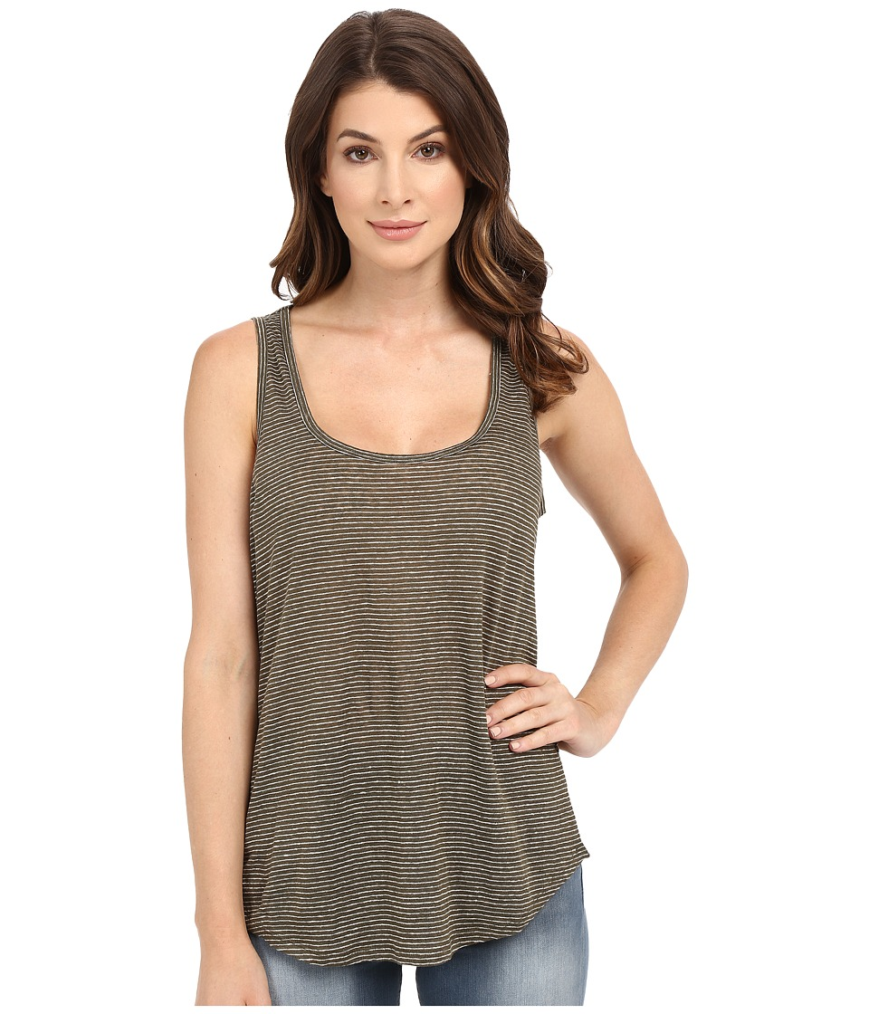 Paige - Jessa Tank Top (Desert Olive/White Stripe) Women's Sleeveless