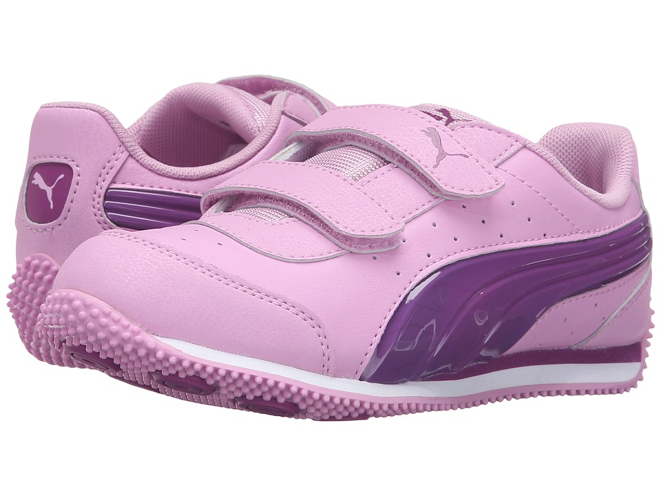 Puma Kids PUMA Speed Light Up V PS (Little Kid/Big Kid) (Pastel Lavender/Hollyhock) Girls Shoes