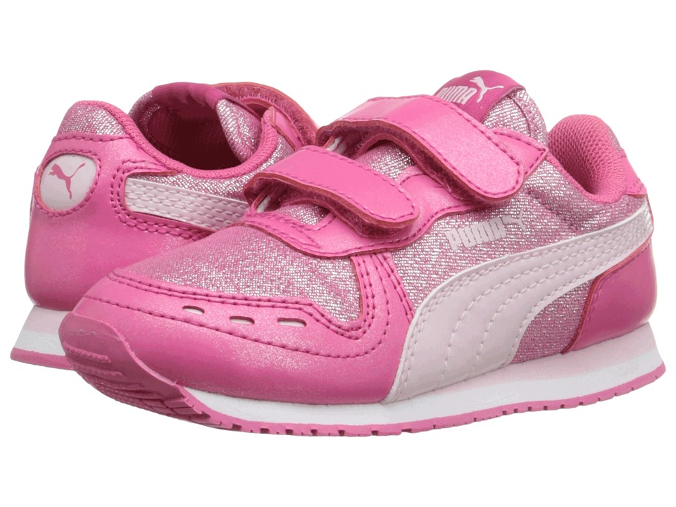 Puma Kids Cabana Racer Glitter V Inf (Toddler) (Fandango Pink/Lilac Snow) Girls Shoes