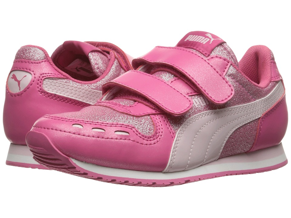 Puma Kids Cabana Racer Glitter V PS (Little Kid/Big Kid) (Fandango Pink/Lilac Snow) Girls Shoes