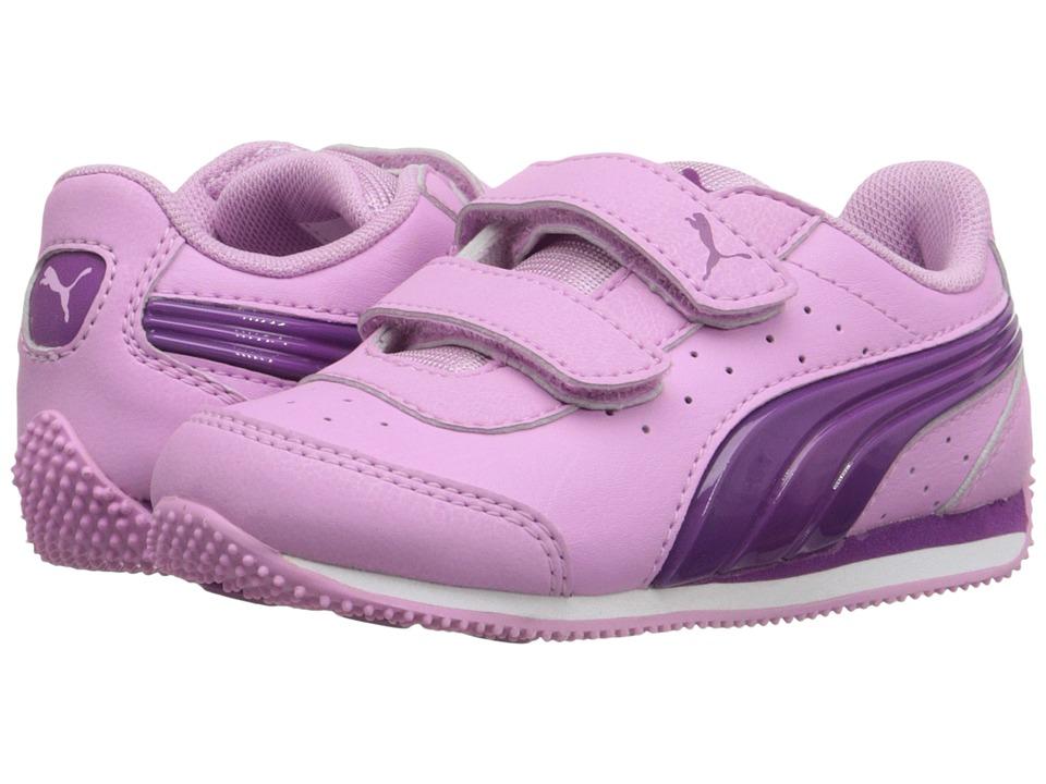 Puma Kids - PUMA Speed Light Up V Inf (Toddler) (Pastel Lavender/Hollyhock) Girls Shoes