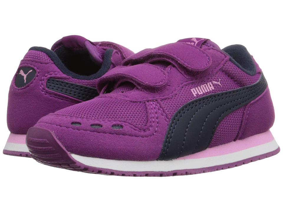 Puma Kids Cabana Racer Mesh V Inf (Toddler) (Hollyhock/Peacoat) Girls Shoes