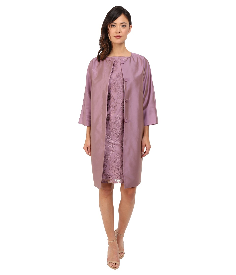 Adrianna Papell - Jacket and Sheath Dress (Dusty Pink) Women's Dress