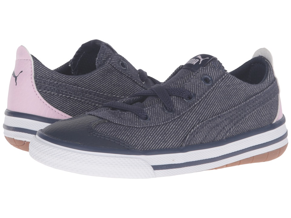 Puma Kids - 917 FUN Denim AC Inf (Toddler) (Peacoat/Lilac Snow/Pastel Lavender) Boys Shoes