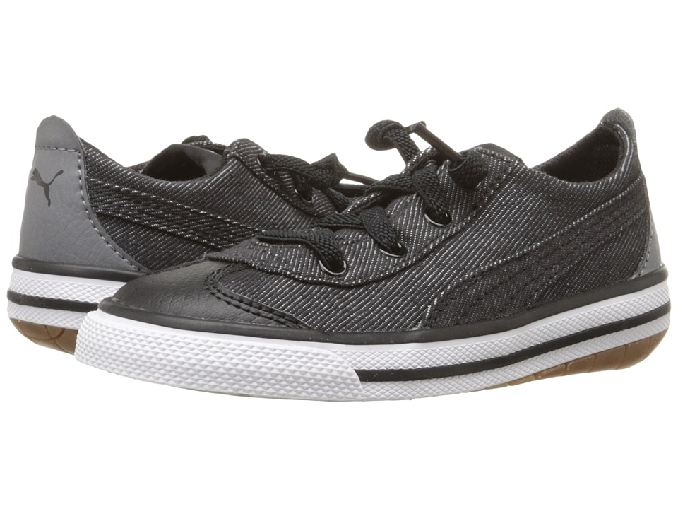 Puma Kids 917 FUN Denim AC Inf (Toddler) (Puma Black/Steel Gray/Drizzle) Boys Shoes