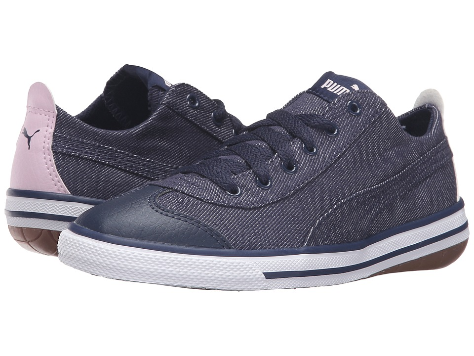 Puma Kids 917 FUN Denim PS (Little Kid/Big Kid) (Peacoat/Lilac Snow/Pastel Lavender) Boys Shoes