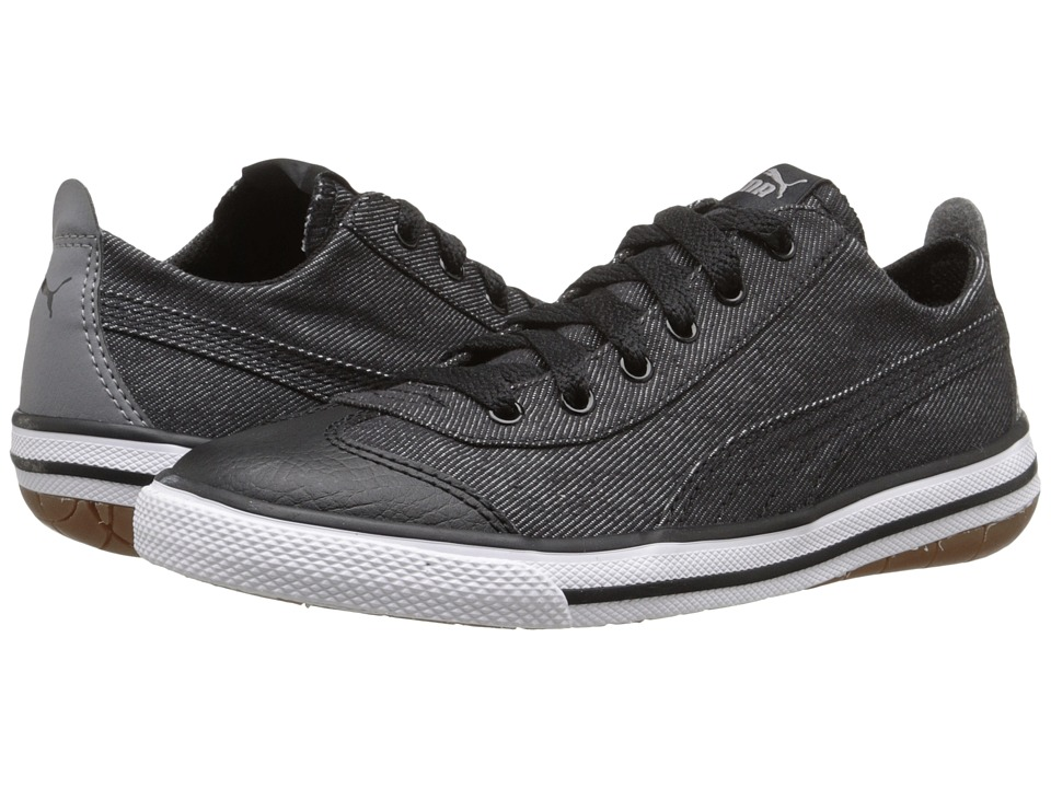 Puma Kids 917 FUN Denim PS (Little Kid/Big Kid) (Puma Black/Steel Gray/Drizzle) Boys Shoes