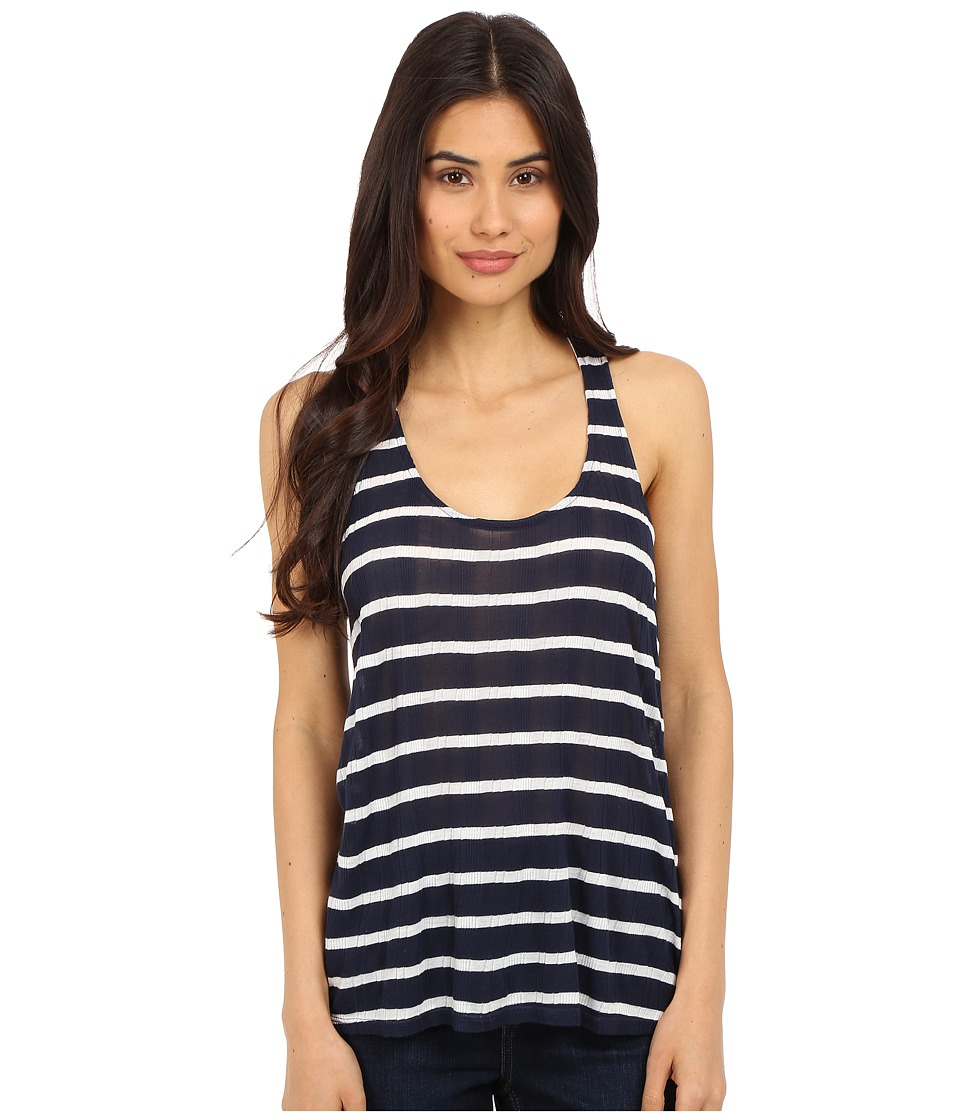 Splendid - Huntington Stripe Rib Tank Top (Navy/White) Women's Sleeveless