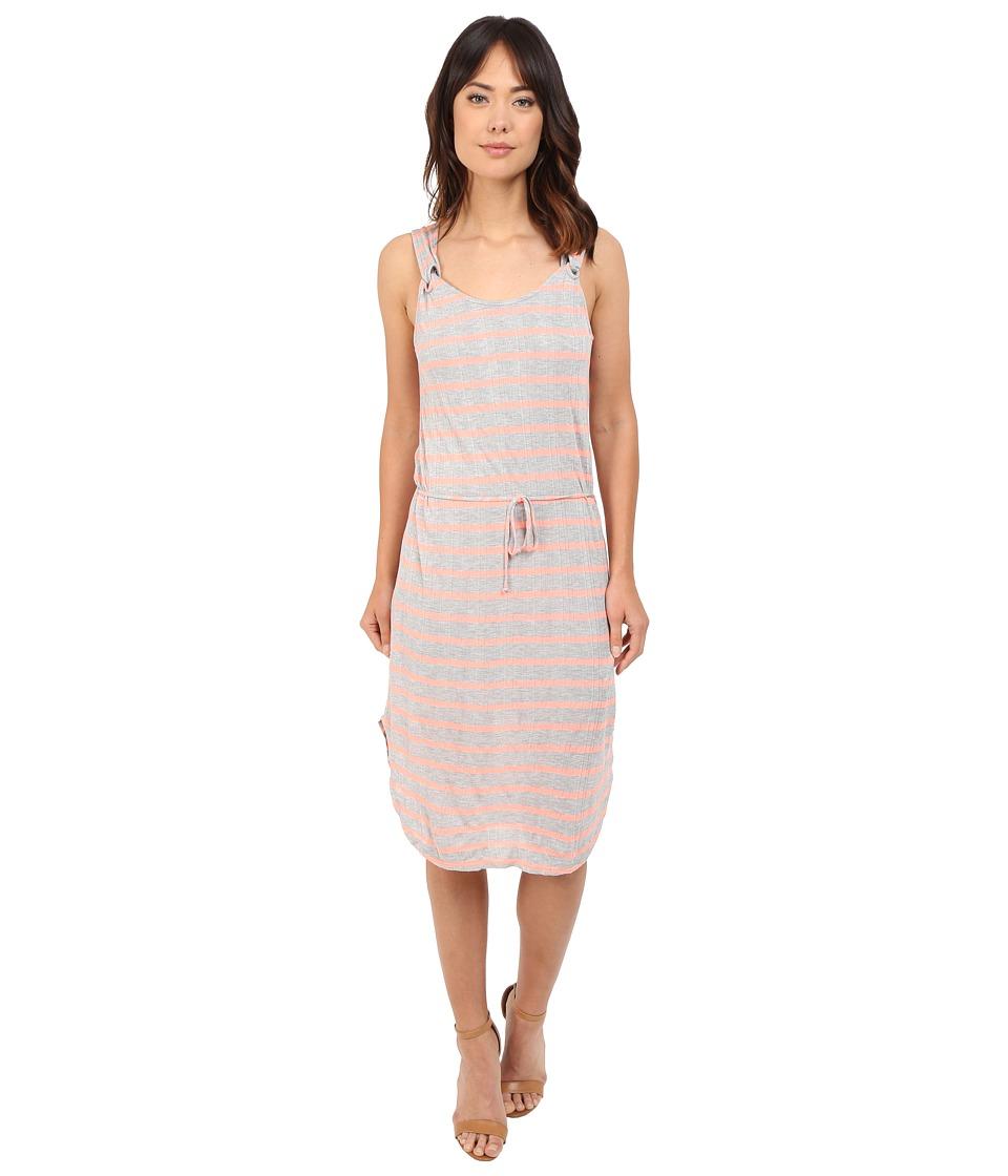 Splendid Huntington Stripe Rib Dress (Heather Grey/Sunkissed Pink) Women