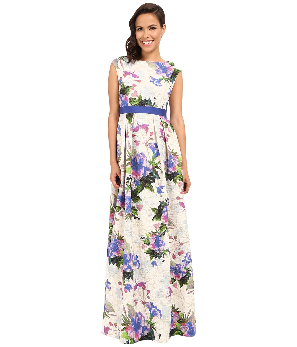 Adrianna Papell - Tropical Floral Ball Dress (Purple Multi) Women's Dress