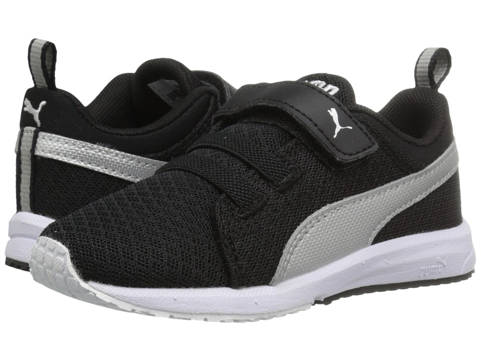 Puma Kids Carson Mesh V Inf (Toddler) (Puma Black/Puma Silver) Boys Shoes