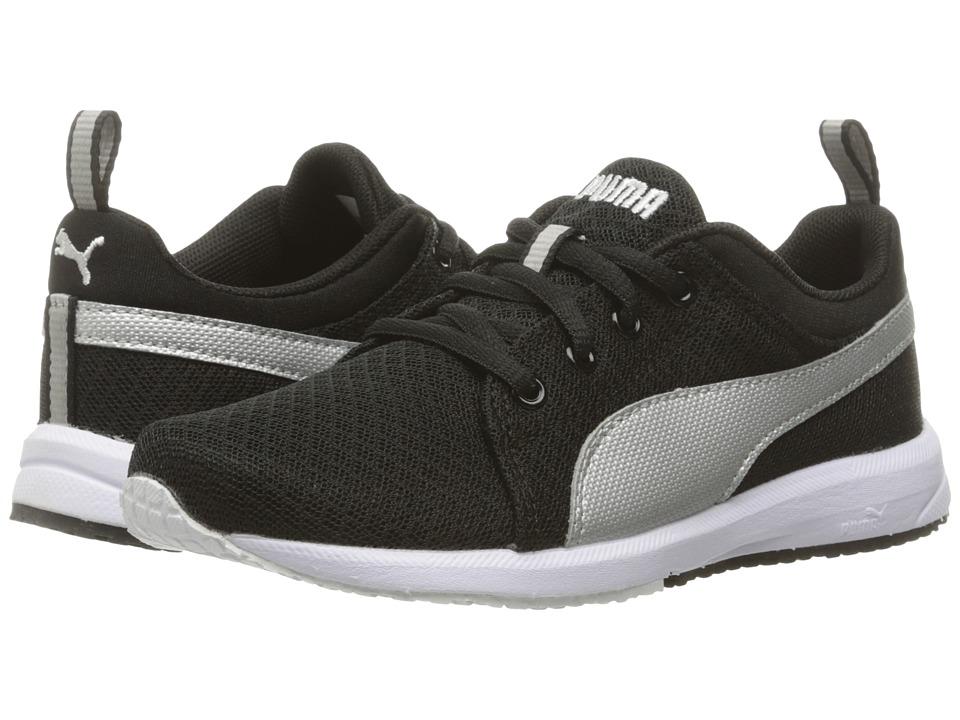 Puma Kids Carson Mesh PS (Little Kid/Big Kid) (Puma Black/Puma Silver) Boys Shoes