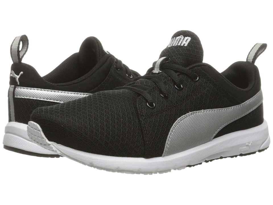 Puma Kids - Carson Mesh Jr (Big Kid) (Puma Black/Puma Silver) Boys Shoes