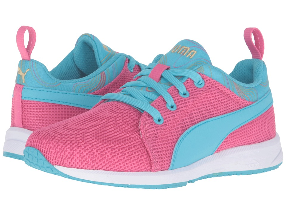 Puma Kids - Carson Runner Marble PS (Little Kid/Big Kid) (Fandango Pink/Blue Atoll) Girls Shoes