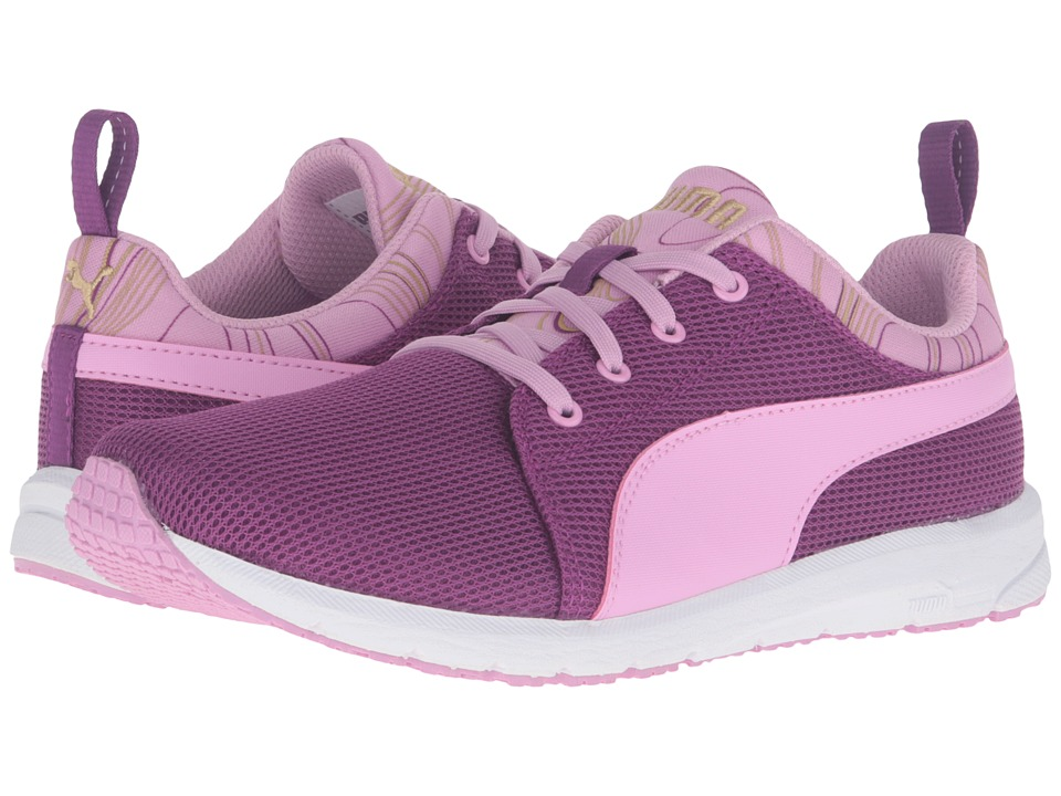 Puma Kids Carson Runner Marble Jr (Big Kid) (Hollyhock/Pastel Lavender) Girls Shoes