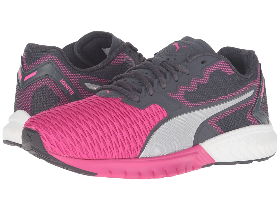 Puma Kids IGNITE Dual Jr (Big Kid) (Pink Glo/Puma Silver) Girls Shoes