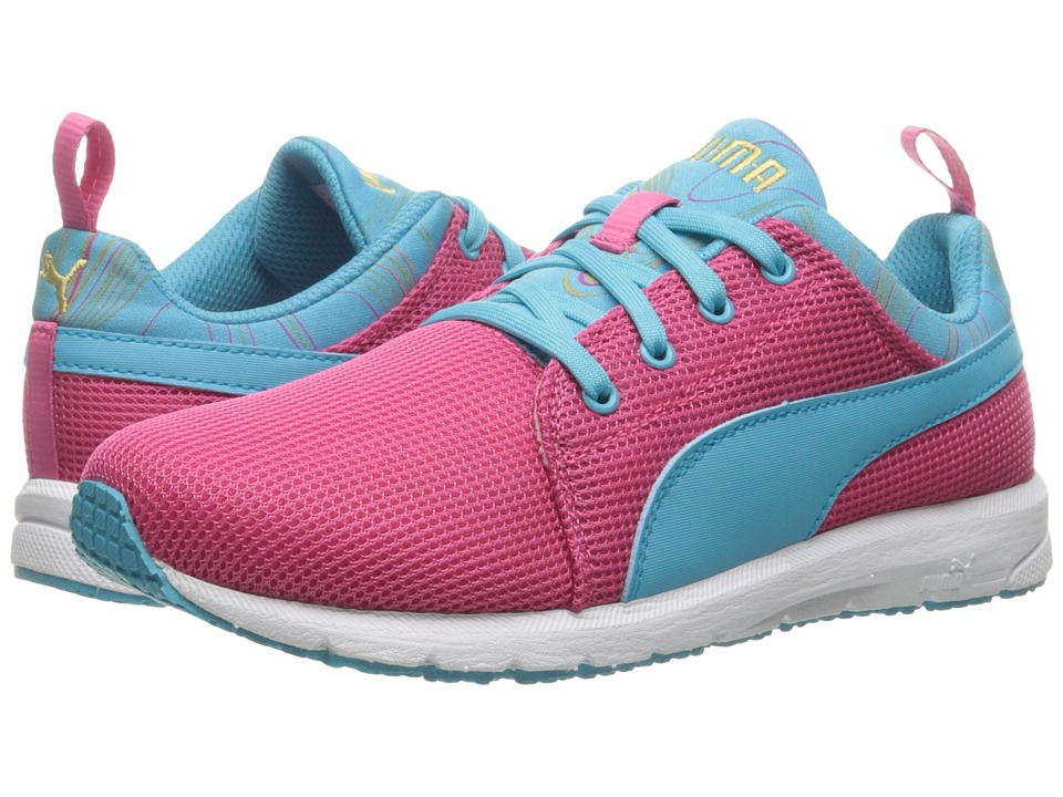 Puma Kids Carson Runner Marble Jr (Big Kid) (Fandango Pink/Blue Atoll) Girls Shoes