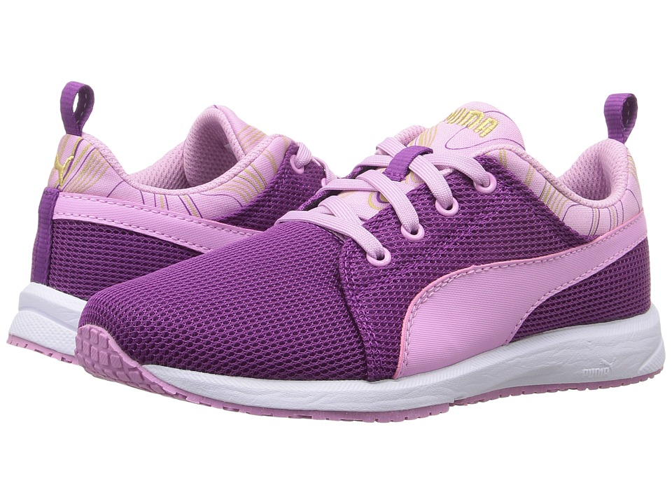 Puma Kids - Carson Runner Marble PS (Little Kid/Big Kid) (Hollyhock/Pastel Lavender) Girls Shoes