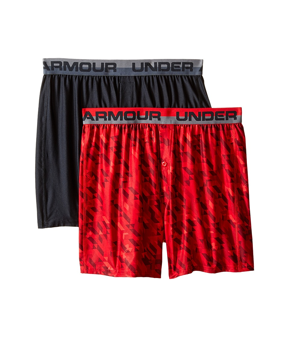 Under Armour Kids - O-Series Boxer Shorts (Big Kids) (Black/Red) Boy's Underwear