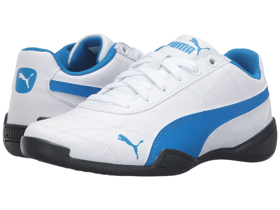 Puma Kids - Tune Cat 3 Jr (Big Kid) (Puma White/Electric Blue Lemonade) Boys Shoes