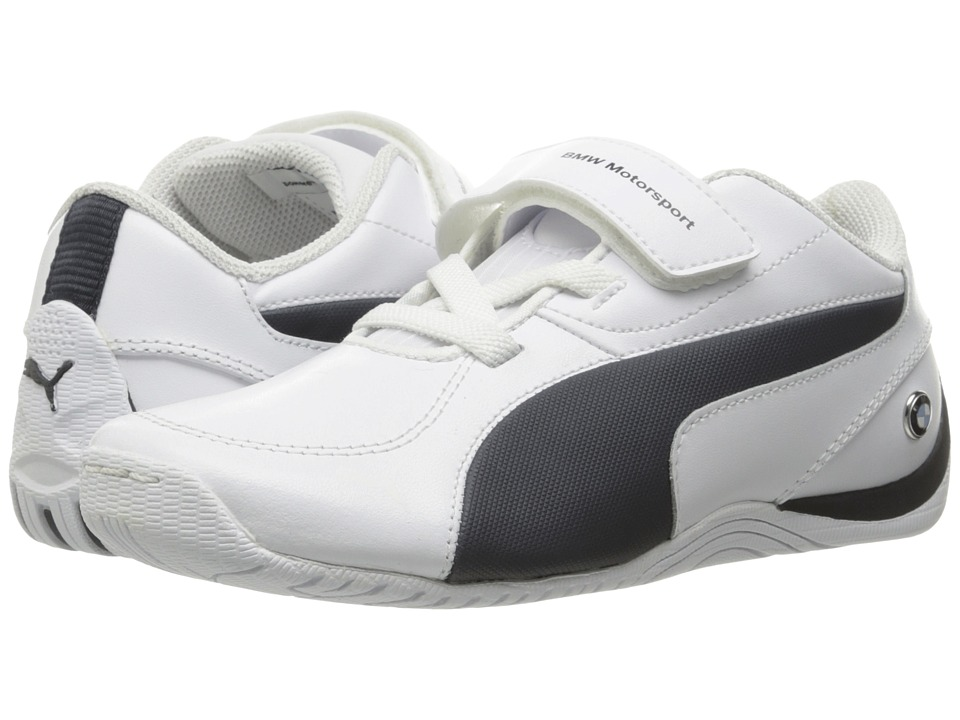 Puma Kids - Drift Cat 5 L BMW NU V PS (Little Kid/Big Kid) (Puma White/Team Blue) Boys Shoes