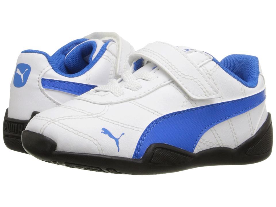 Puma Kids Tune Cat 3 V Inf (Toddler) (Puma White/Electric Blue Lemonade) Boys Shoes