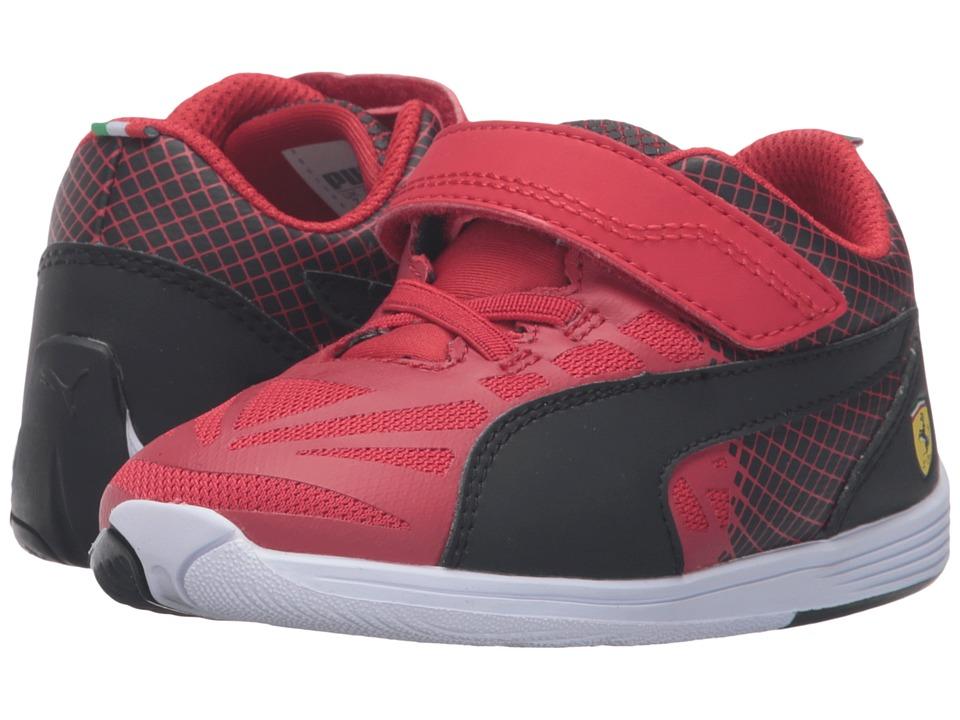 Puma Kids - evoSPEED SF Hook-and-Loop V Inf (Toddler) (Rosso Corsa/Puma Black) Boys Shoes