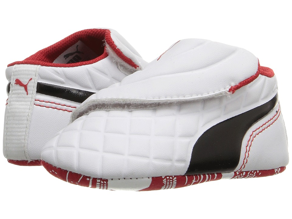 Puma Kids - Drift Cat 5 Crib (Infant/Toddler) (Puma White/Puma Black) Boys Shoes
