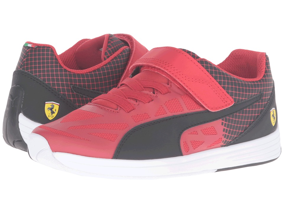 Puma Kids - evoSPEED SF Hook-and-Loop PS (Little Kid/Big Kid) (Rosso Corsa/Puma Black) Boys Shoes