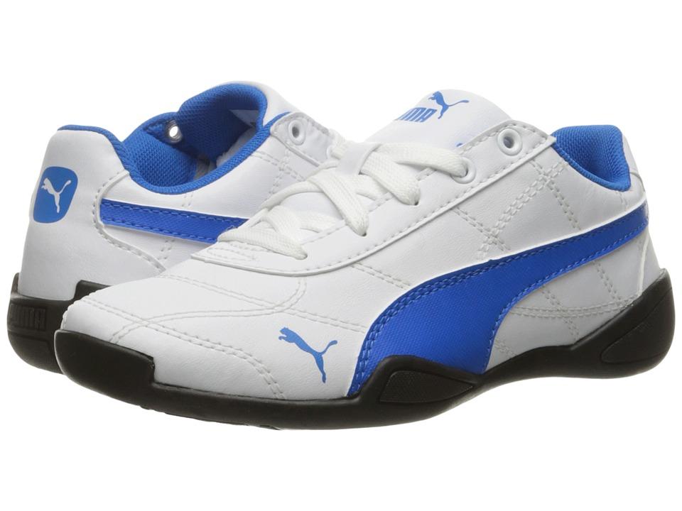 Puma Kids Tune Cat 3 PS (Little Kid/Big Kid) (Puma White/Electric Blue Lemonade) Boys Shoes