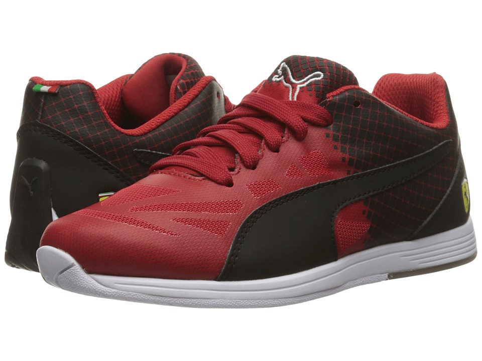 Puma Kids - evoSPEED SF Lace Jr (Big Kid) (Rosso Corsa/Puma Black) Boys Shoes