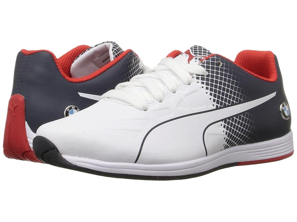 Puma Kids - BMW MS evoSPEED Lace Jr (Big Kid) (Team Blue/Puma White) Boys Shoes