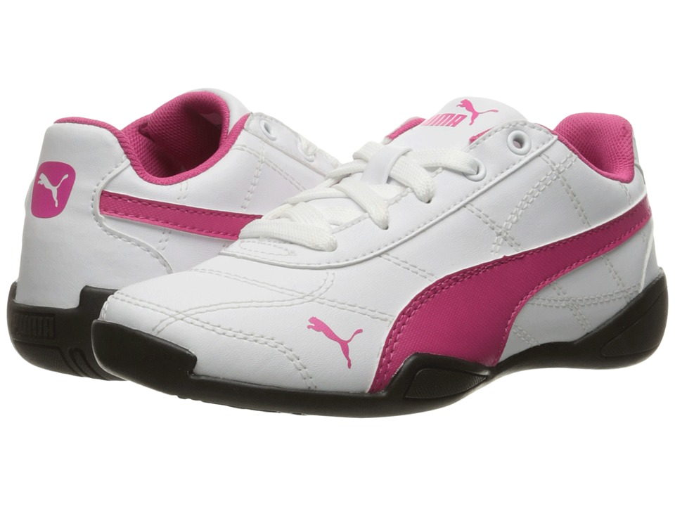 Puma Kids - Tune Cat 3 PS (Little Kid/Big Kid) (Puma White/Fuchsia Purple) Girls Shoes