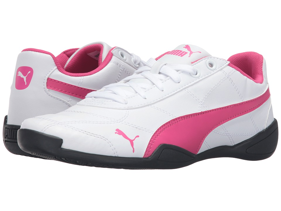 Puma Kids - Tune Cat 3 Jr (Big Kid) (Puma White/Fuchsia Purple) Girls Shoes