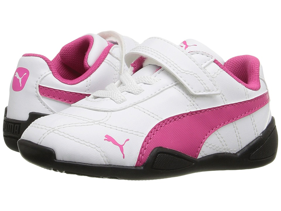 Puma Kids - Tune Cat 3 V Inf (Toddler) (Puma White/Fuchsia Purple) Girls Shoes