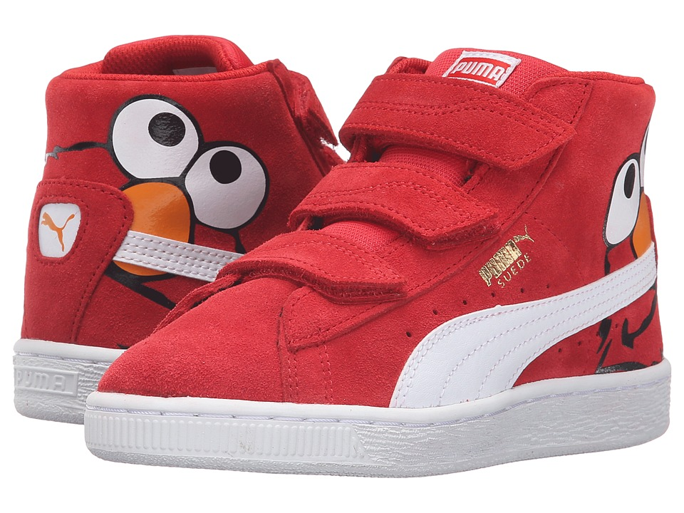 Puma Kids - Suede Mid Sesame Elmo V PS (Little Kid/Big Kid) (High Risk Red/Puma White) Boys Shoes