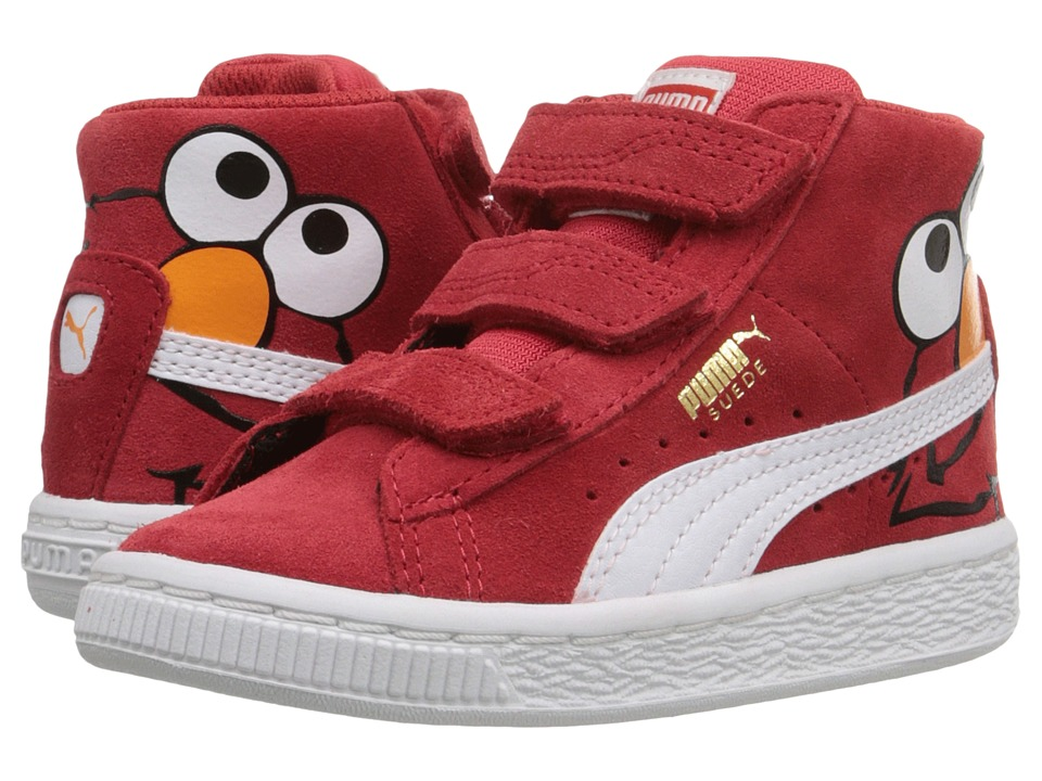 Puma Kids - Suede Mid Sesame Elmo V Inf (Toddler) (High Risk Red/Puma White) Boys Shoes