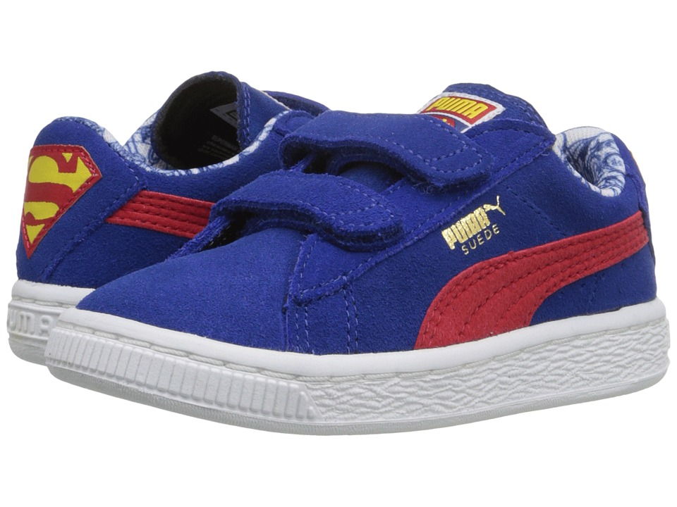 Puma Kids Suede Superman V Inf (Toddler) (Limoges/High Risk Red) Boys Shoes