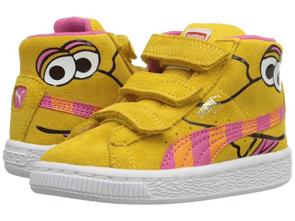 Puma Kids - Suede Mid Sesame Big Bird V Inf (Toddler) (Dandelion/Fandango Pink) Girls Shoes