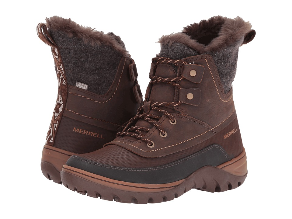 Merrell - Sylva Mid Lace Waterproof (Potting Soil) Women's Boots