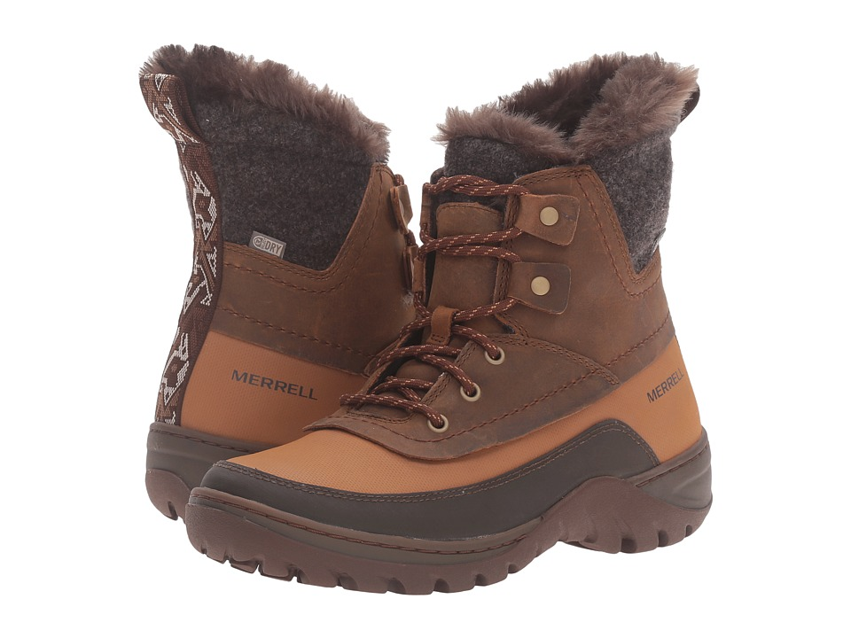 Merrell Sylva Mid Lace Waterproof (Merrell Tan) Women