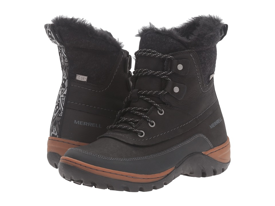 Merrell - Sylva Mid Lace Waterproof (Black) Women's Boots